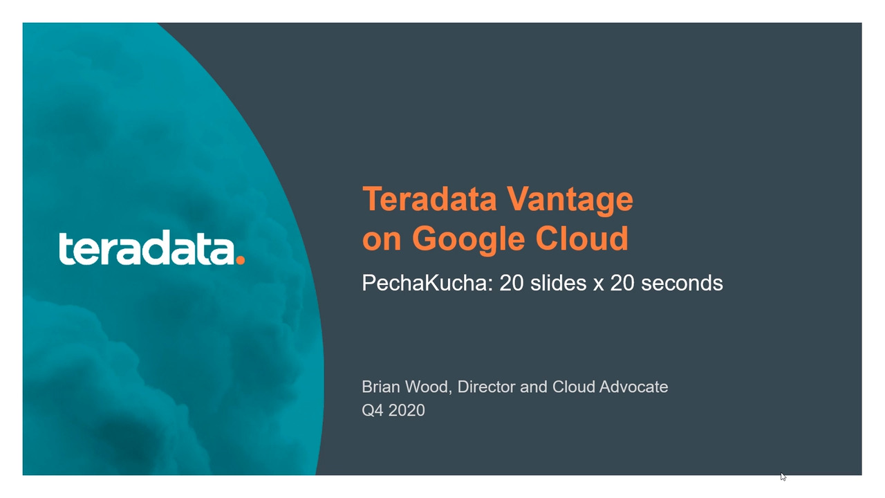 Google Cloud Options for Teradata Vantage
