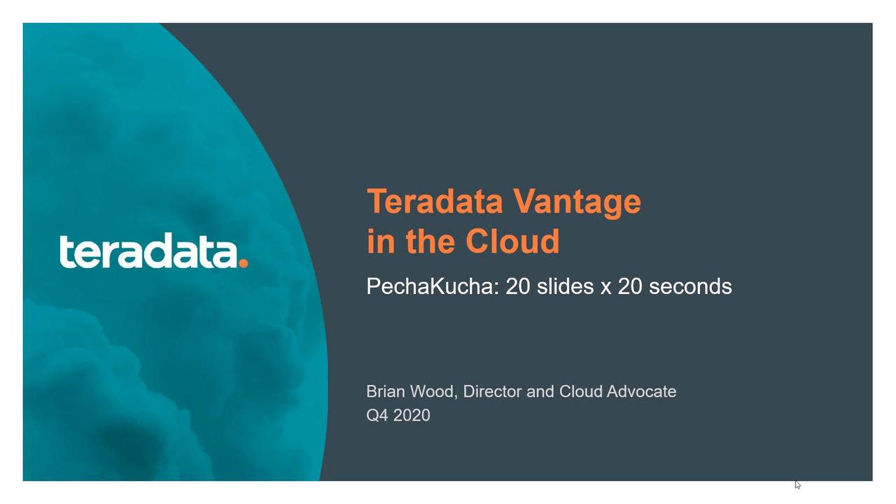 Cloud Analytics Options for Teradata Vantage