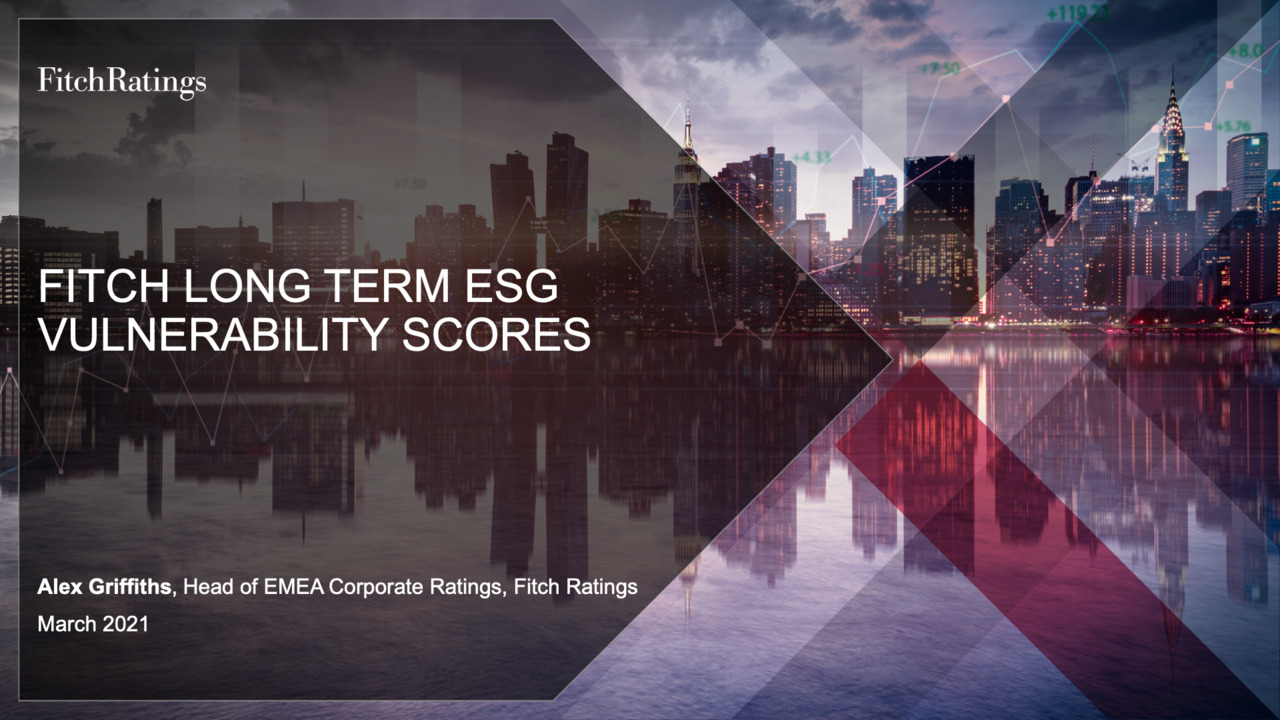 Fitch Long Term ESG Vulnerability Scores