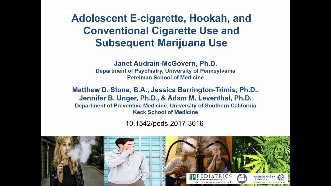 Adolescent E-Cigarette, Hookah, and Conventional Cigarette