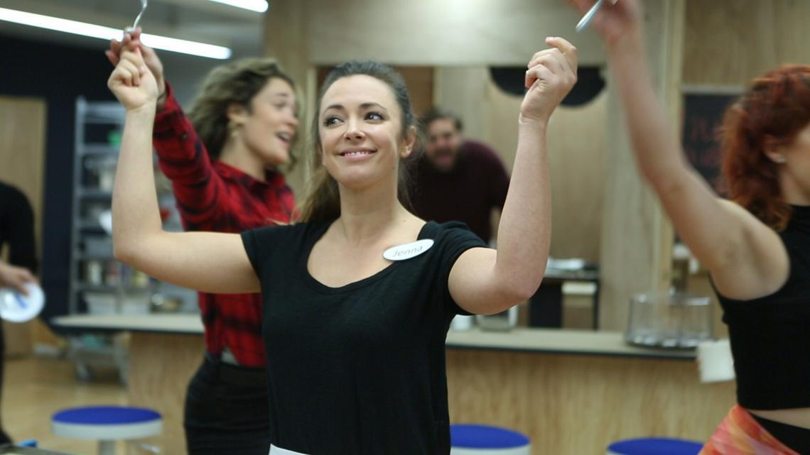 Watch Desi Oakley, Bryan Fenkart & the Cast of the Waitress Tour Open Up in  Rehearsal