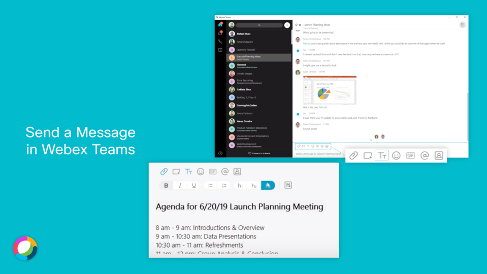 Webex Teams | Send a Message
