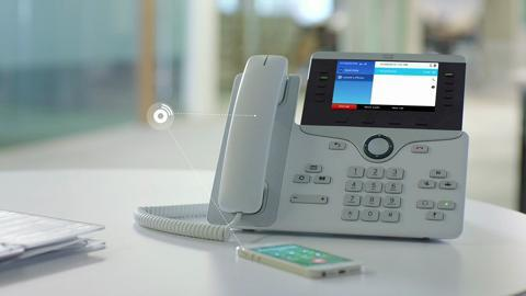 Cisco IP Phone CP-8851 w/ 5 Lines Open-SIP & USB/Bluetooth