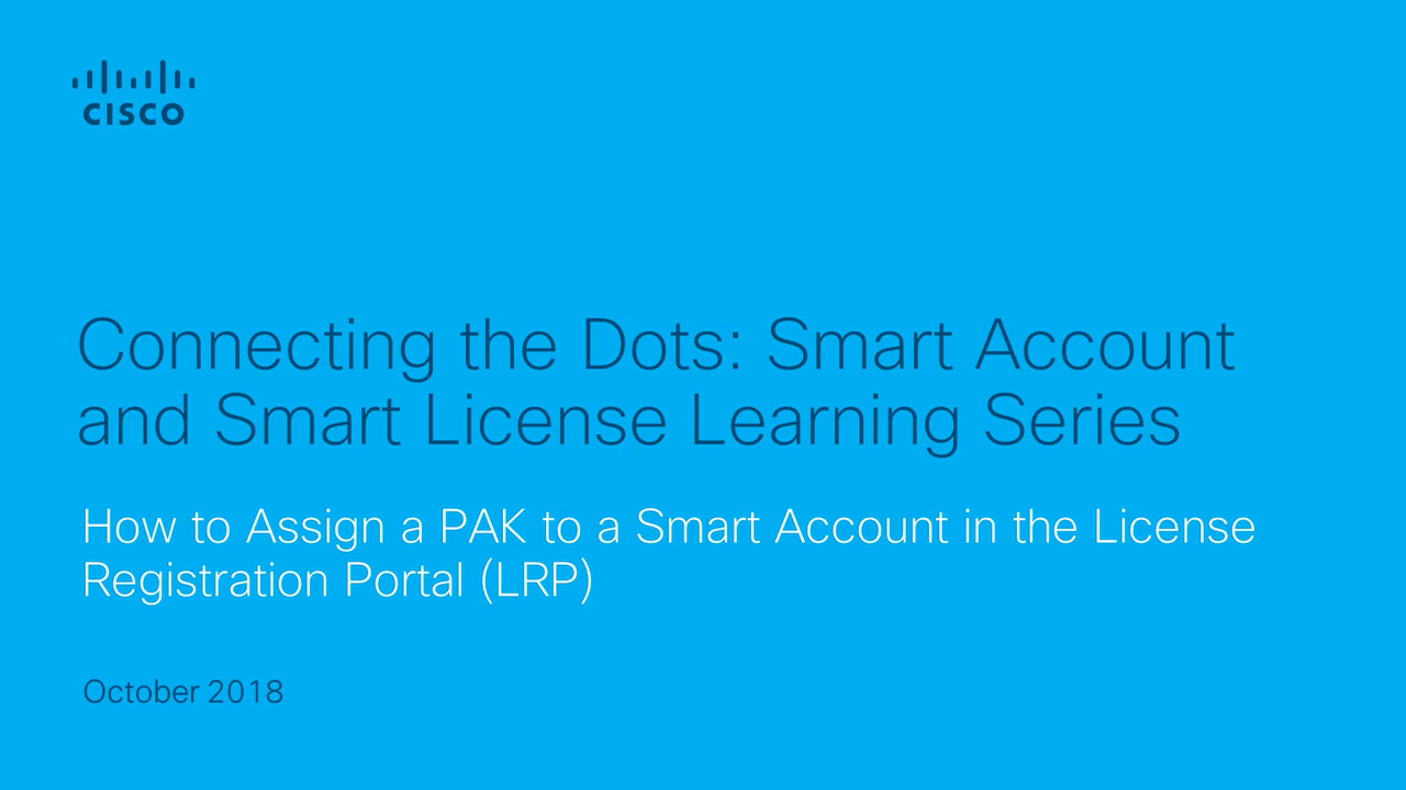 Assign Classic PAK-based License to Smart Account