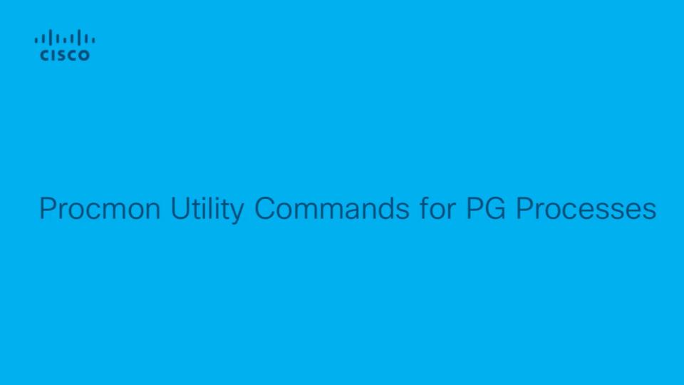 UCCE - Procmon Utility Commands For PG Processes