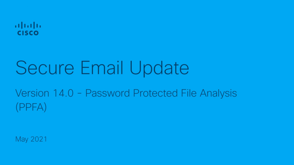Password Protected File Analysis   Cisco Virtual Experience Hub