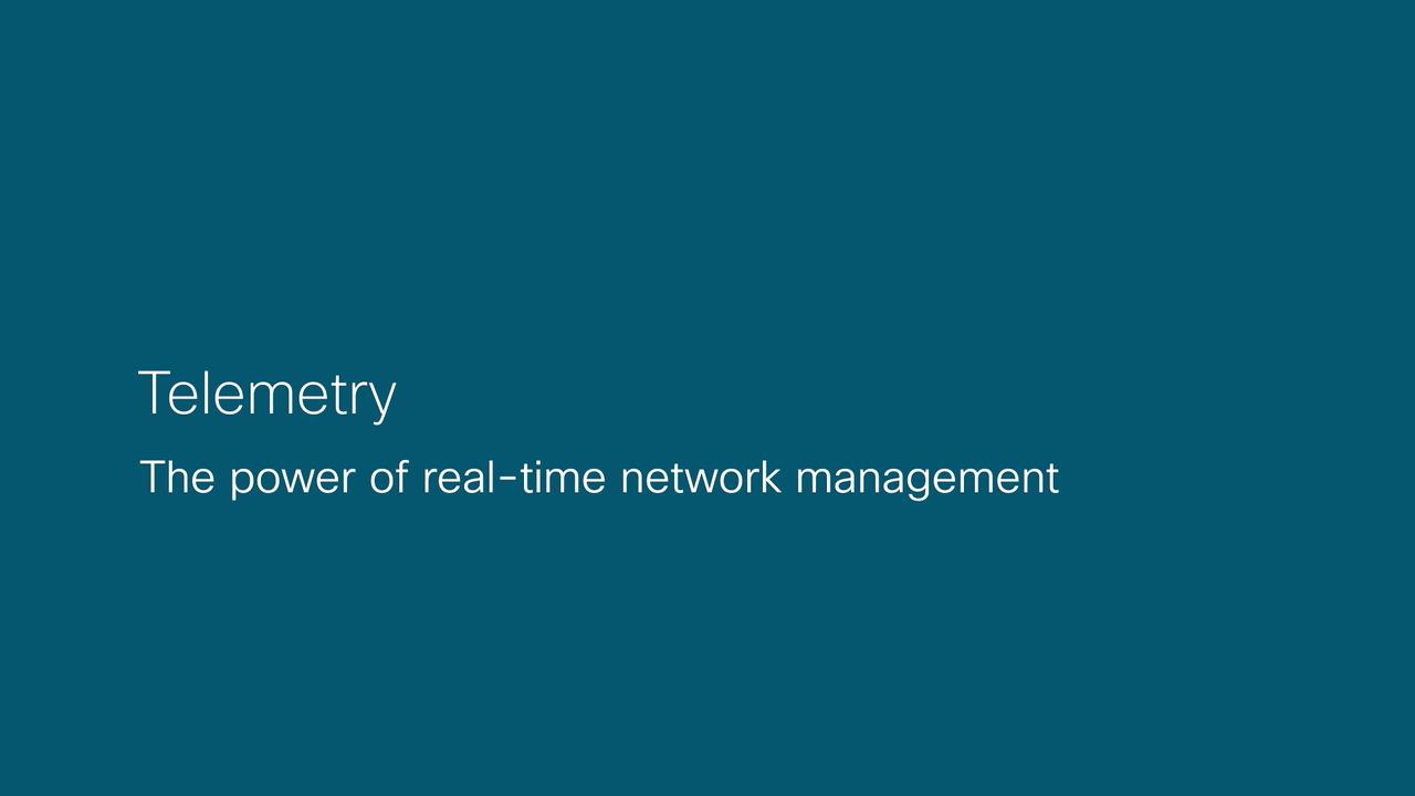 Telemetry in Cisco IOS XR