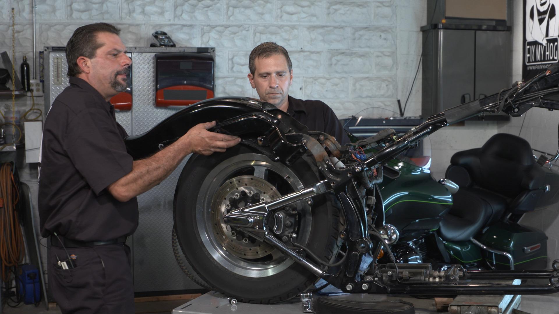 Harley Rear Fender Removal   Fix My HogFix My Hog