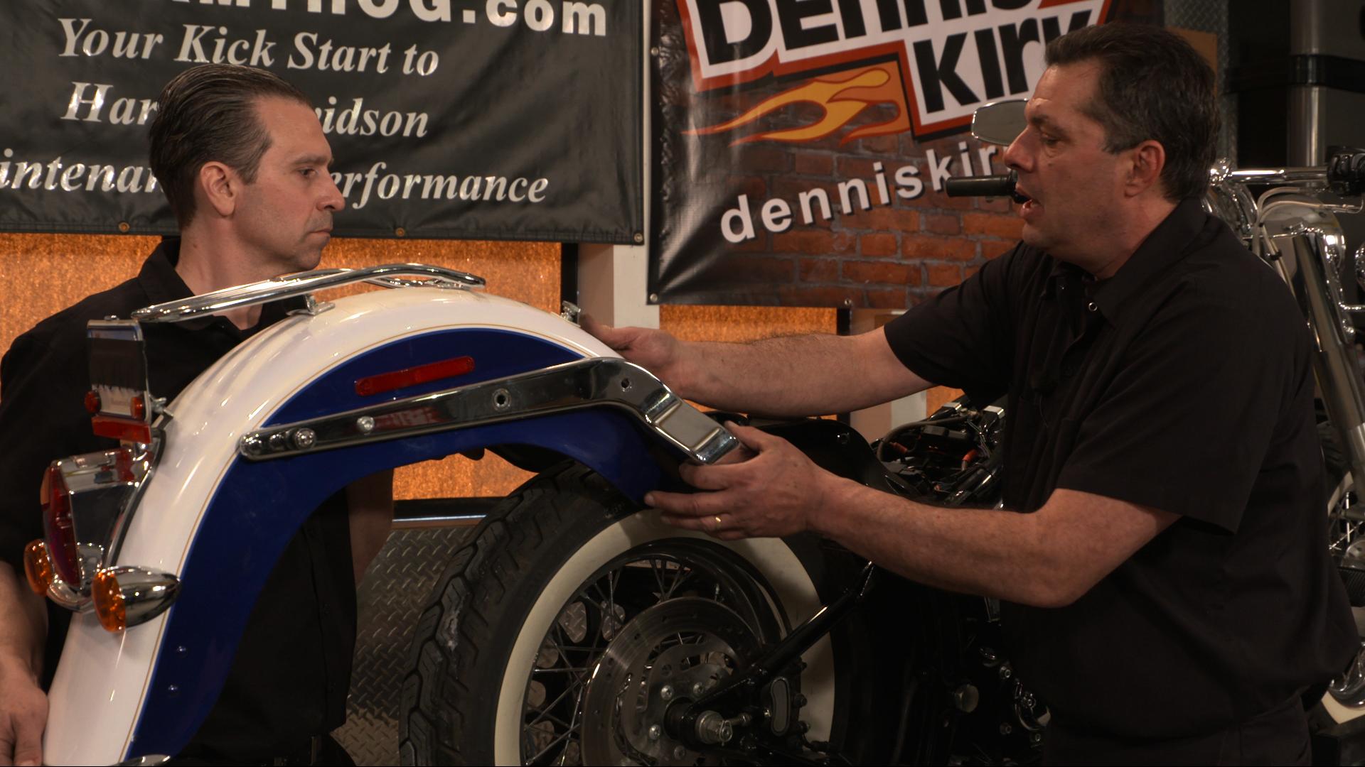 Harley Davidson Rear Fender Removal   Fix My HogFix My Hog