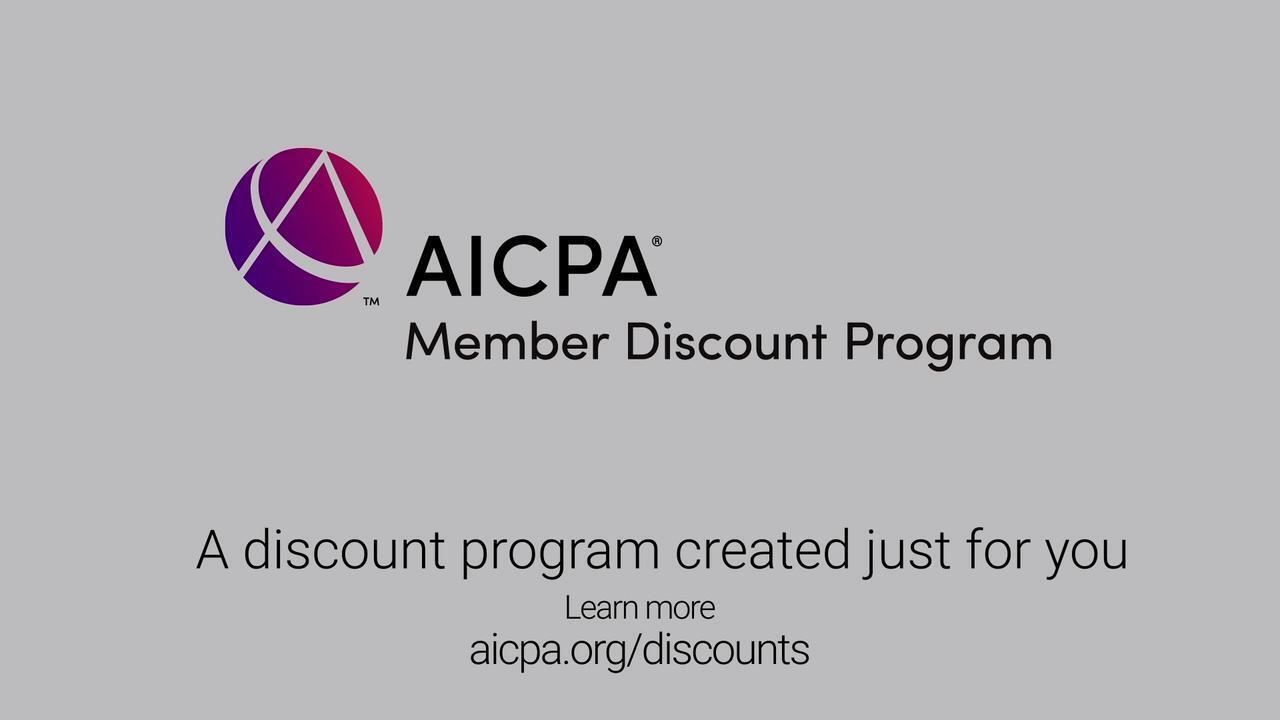 AICPA Member Discount Program