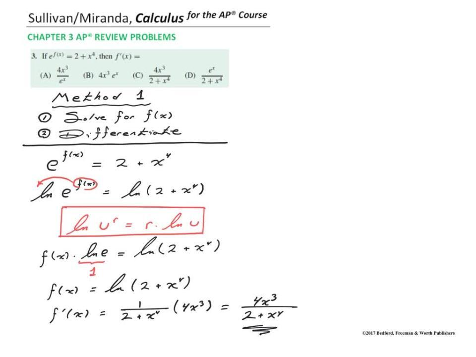 Chapter 3 AP® Review Problem 3