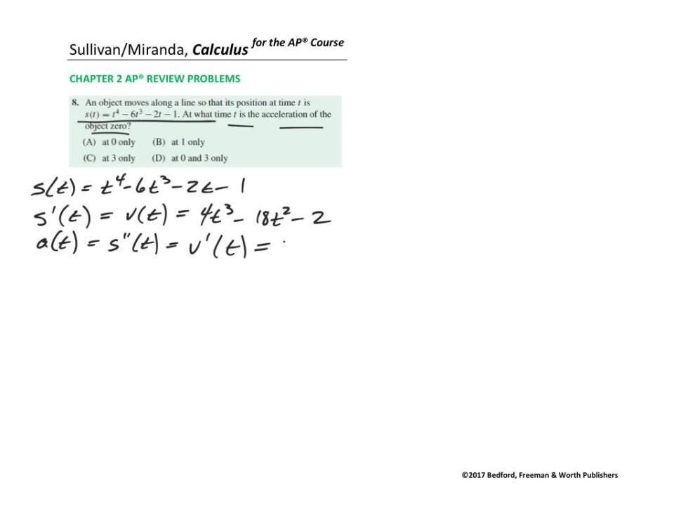 Chapter 2 AP® Review Problem 8
