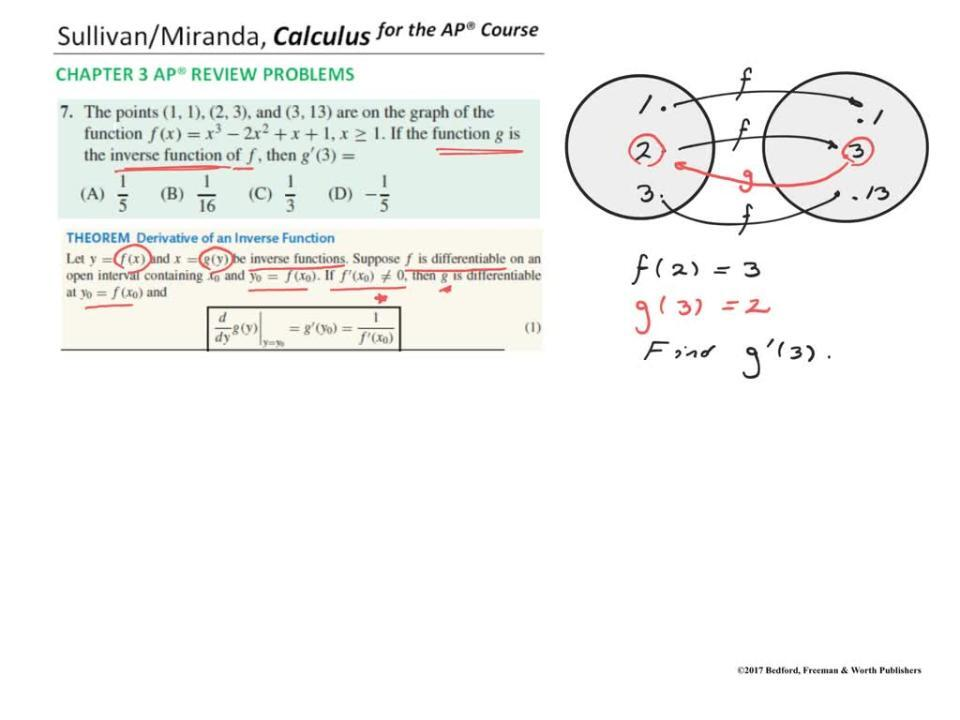 Chapter 3 AP® Review Problem 7
