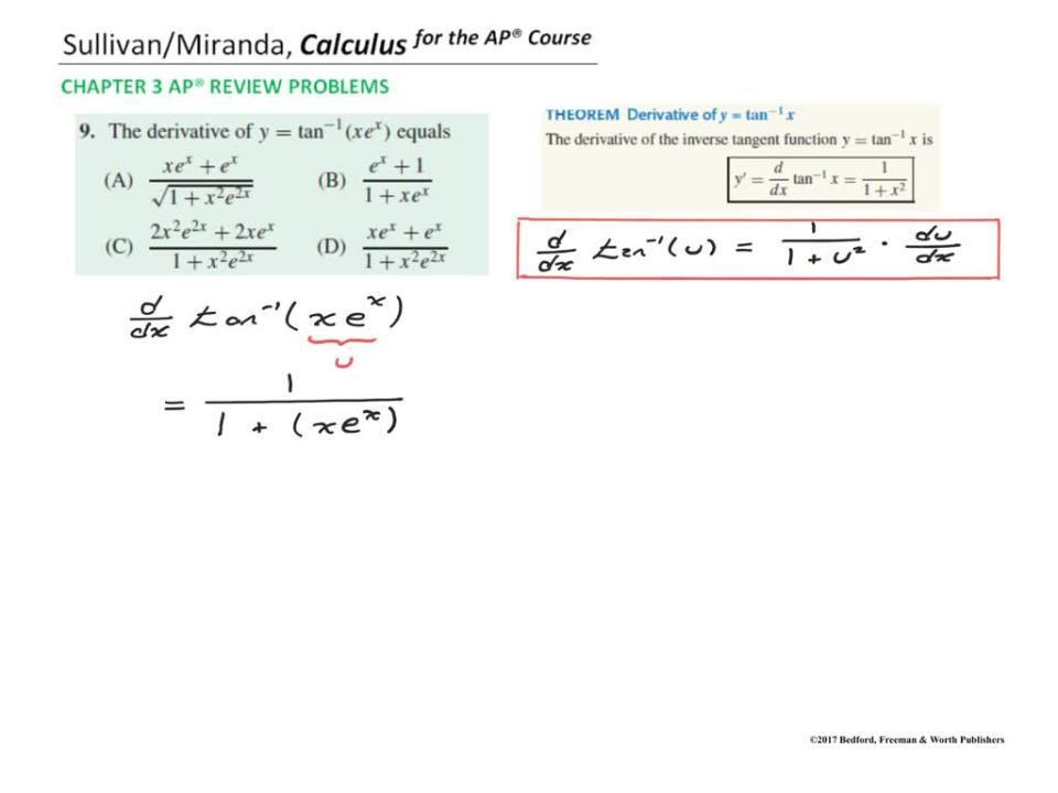 Chapter 3 AP® Review Problem 9