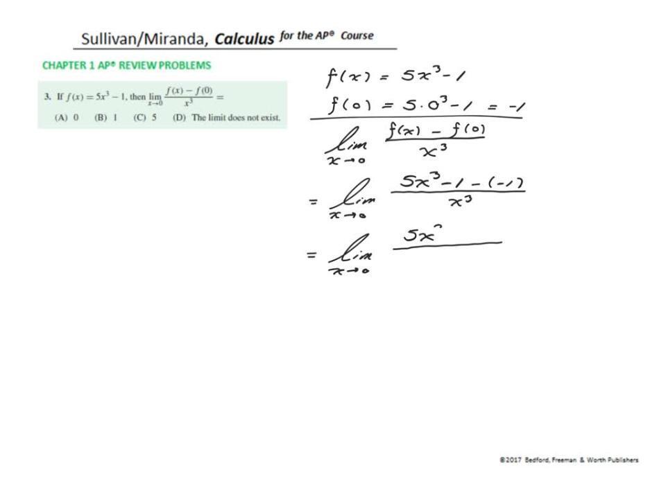 Chapter 1 AP® Review Problem 3