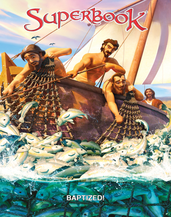 Chris, Joy and Gizmo are surprised when Superbook takes Ellie along with them for an adventure by the Sea of Galilee. Witness a miracle as Peter goes fishing, and discover how Jesus calls all of His followers to be fishers of people!