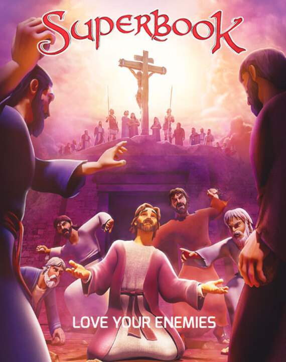 Superbook takes Chris, Joy and Gizmo to see how Jesus is arrested, yet heals a wounded guard, and forgives those who kill him. Then Stephen forgives the people who stone him to death. Discover how mercy overpowers hatred and revenge!