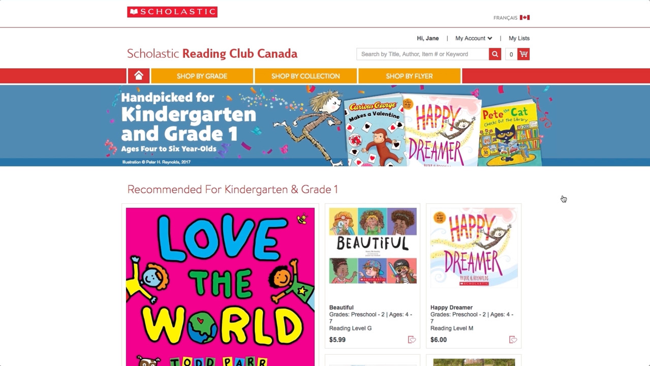Scholastic Reading Club Canada - Sign In | Online shopping in Canada