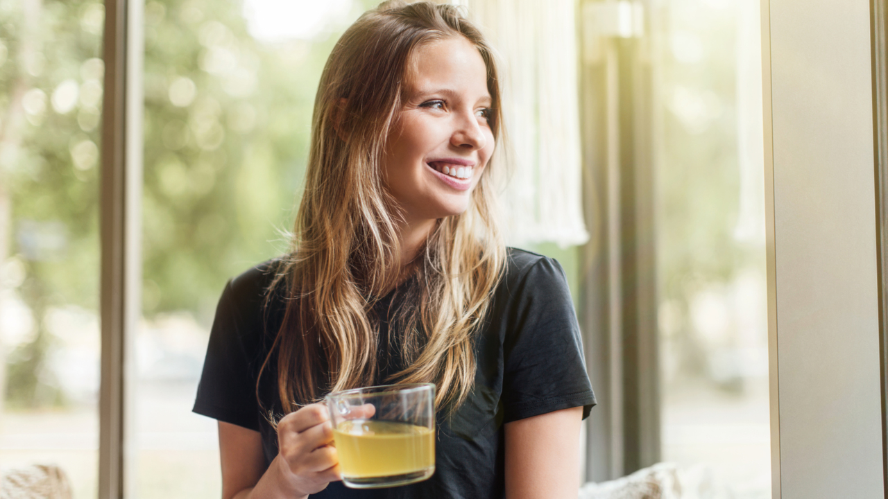Sip Green Tea to Get Happy