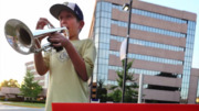 12-Year-Old Plays Trumpet Outside Georgia Hospital Every Day