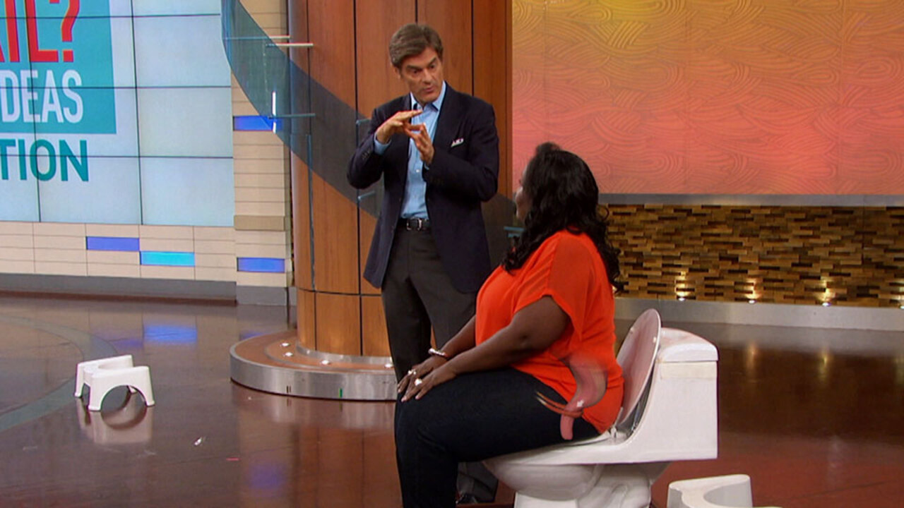 Dr. Oz Explains Why You Poop Sitting Down