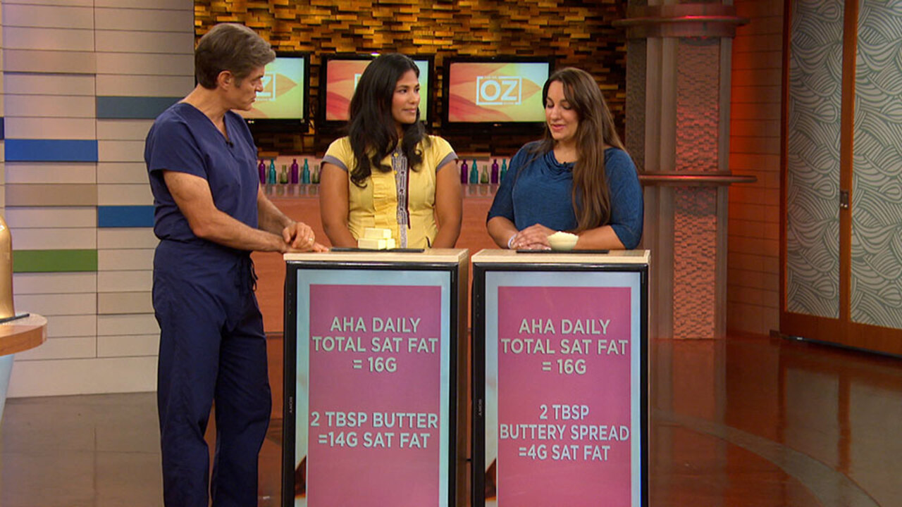 Dr. Oz Compares Butter to Buttery Spread