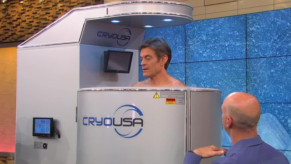 Dr. Oz Tries Cryotherapy for the First Time
