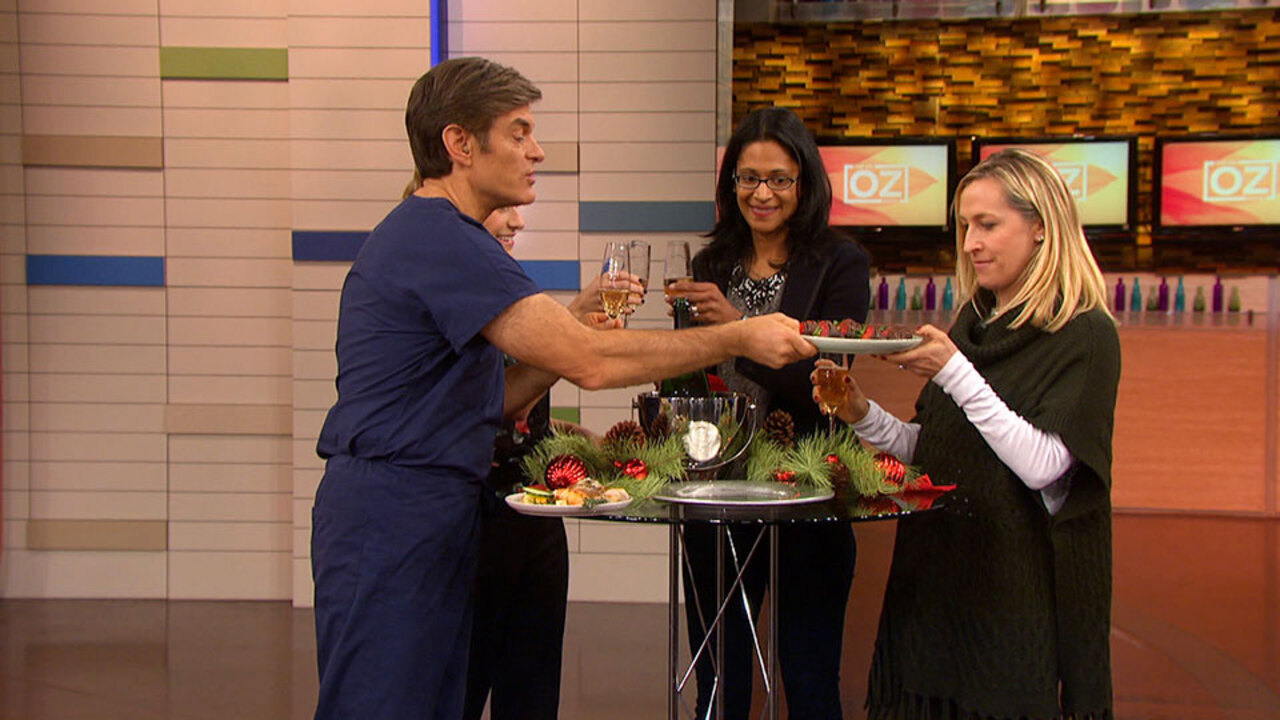 Dr. Oz Shares His Favorite Holiday Party Appetizers