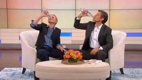 Dr. Oz Challenges Cameron Diaz to a Drinking Contest