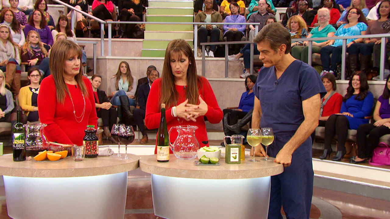 Roxanne and Rochelle Make Healthy Sangria