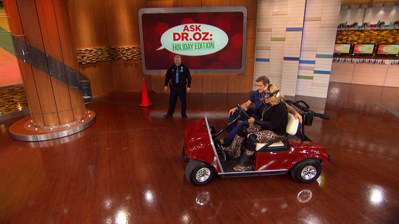 Kym Whitley Does a Simulated Drunk-Driving Course