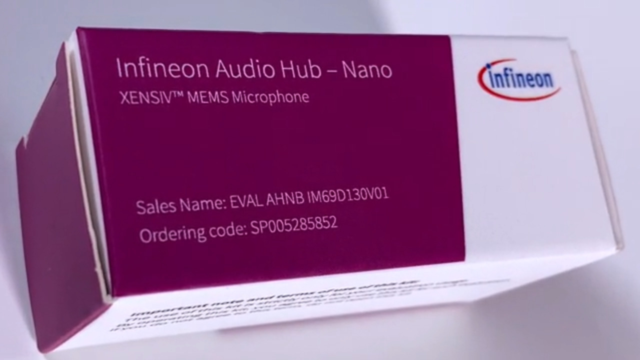 Audio Hub Nano: Plug & play studio quality audio recordings with XENSIV™ MEMS microphones