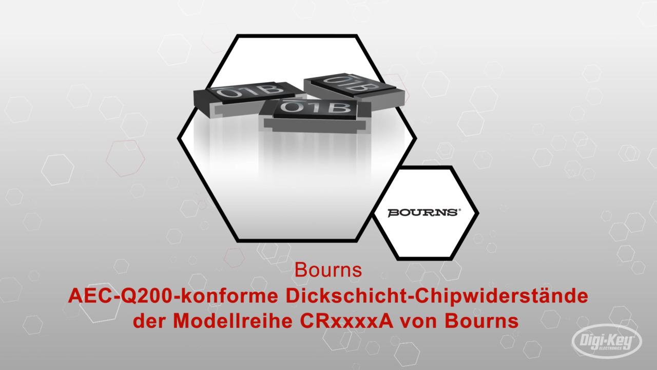 AEC-Q200-konforme Dickschicht-Chipwiderstände der Modellreihe CRxxxxA von Bourns | Datasheet Preview