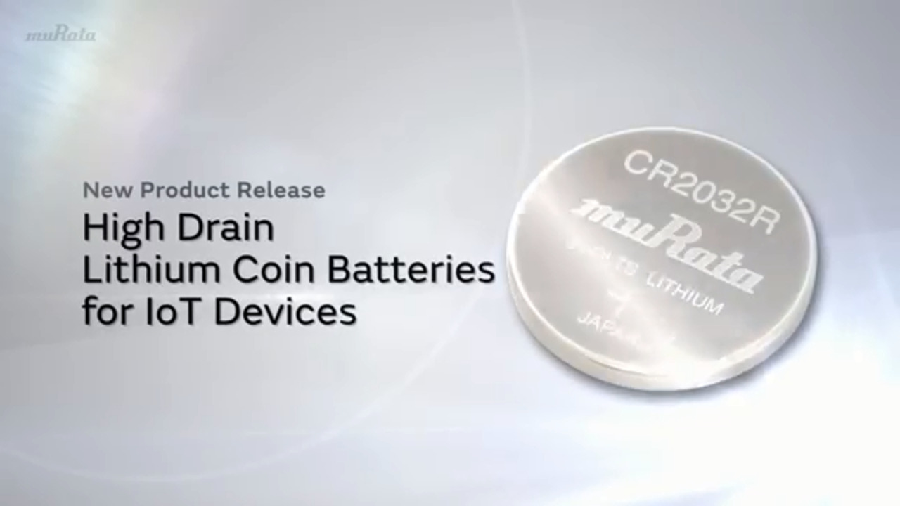 High Drain Lithium Coin Batteries (CR) for IoT Devices