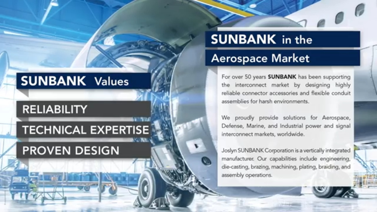 SUNBANK Backshells and Accessories for Aerospace