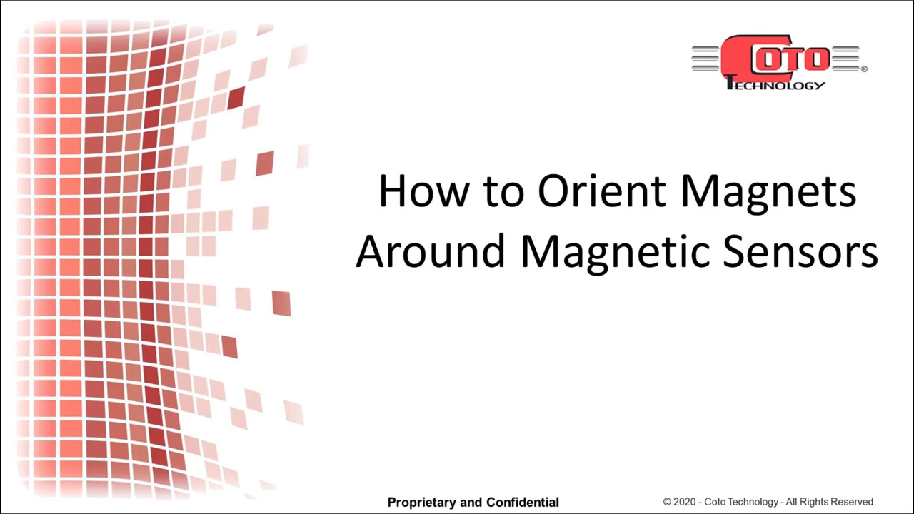 How to Orient Magnets Around Magnetic Sensors