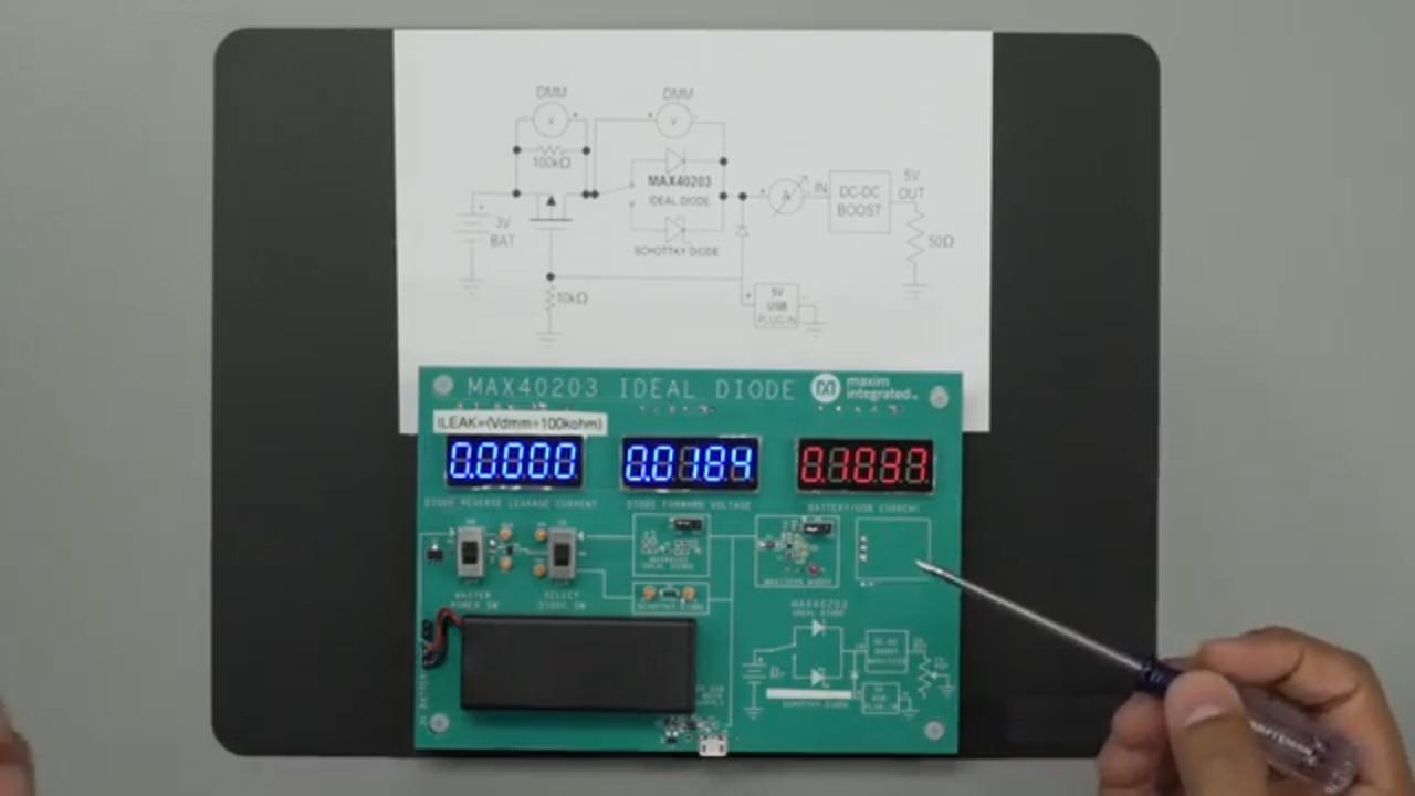 Nanopower Ideal Diode vs. a Schottky Diode