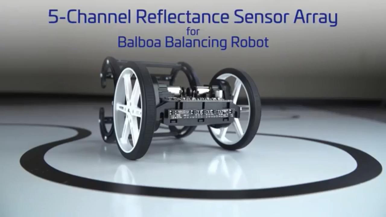 5-Channel Reflectance Sensor Array for Balboa Balancing Robot