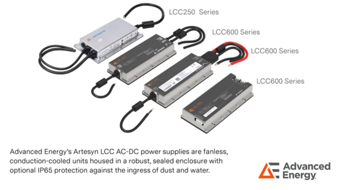 Advanced Energy's Artesyn LCC Series Conduction Cooled AC-DC Power Supplies