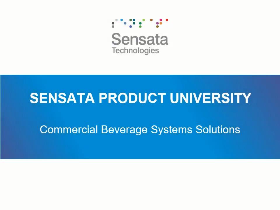 Sensata University | Commercial Beverage Systems Solutions 101