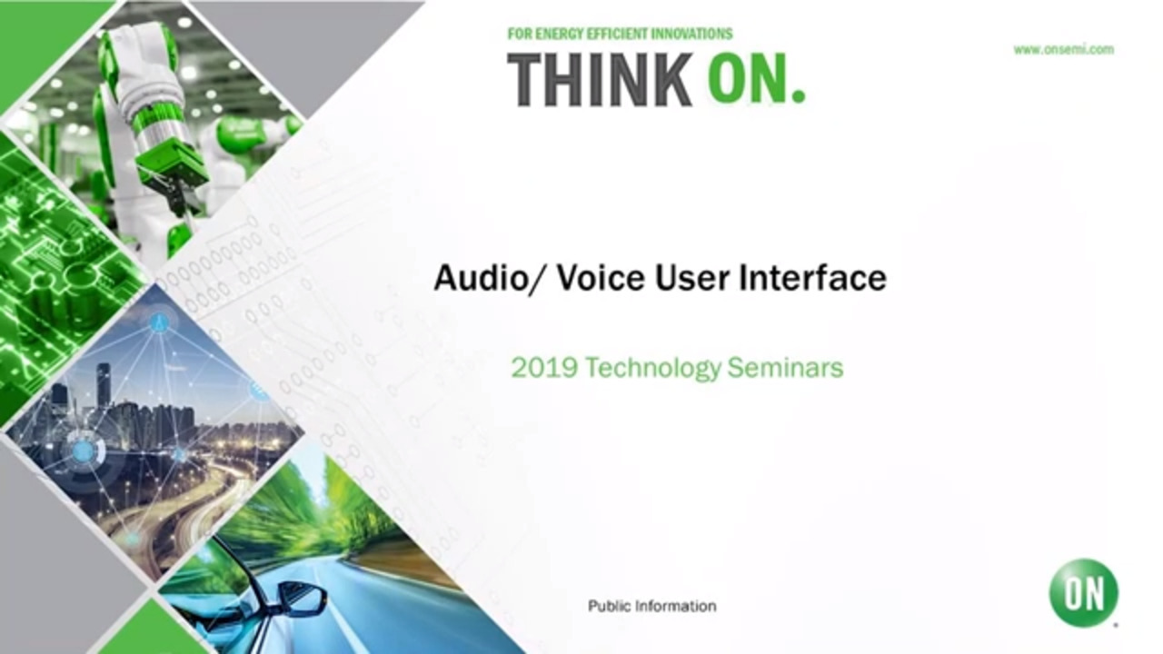 Audio/Voice User Interface | 2019 Technology Seminar - IoT