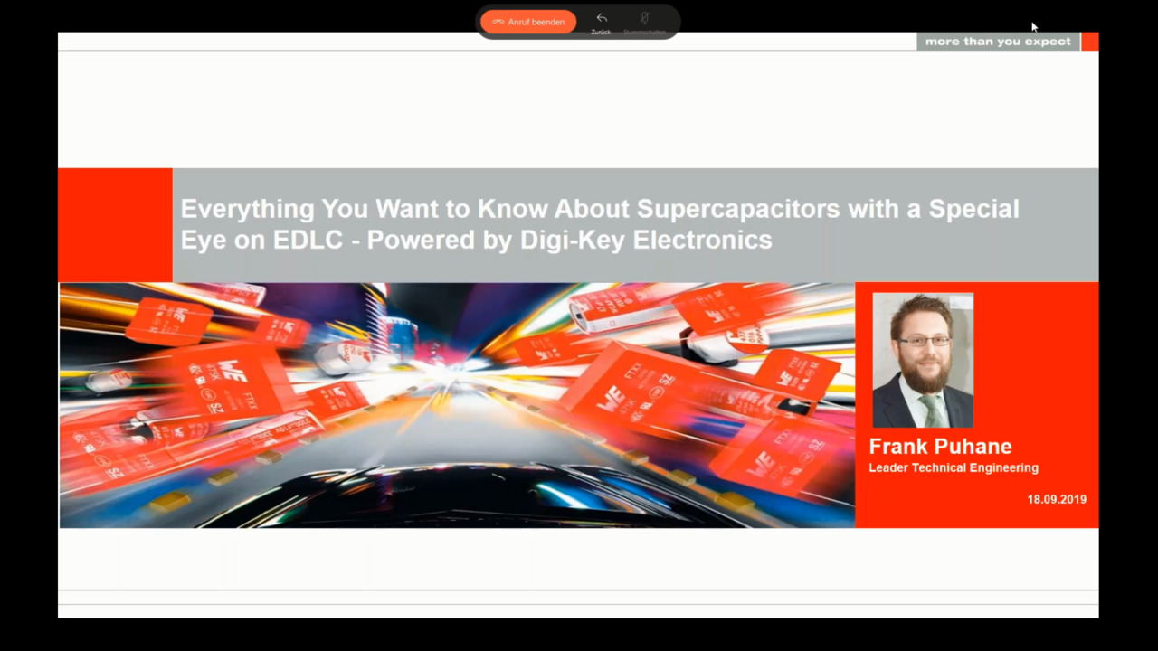 WEbinar Powered by Digi-Key: Everything you want to know about Supercapacitors