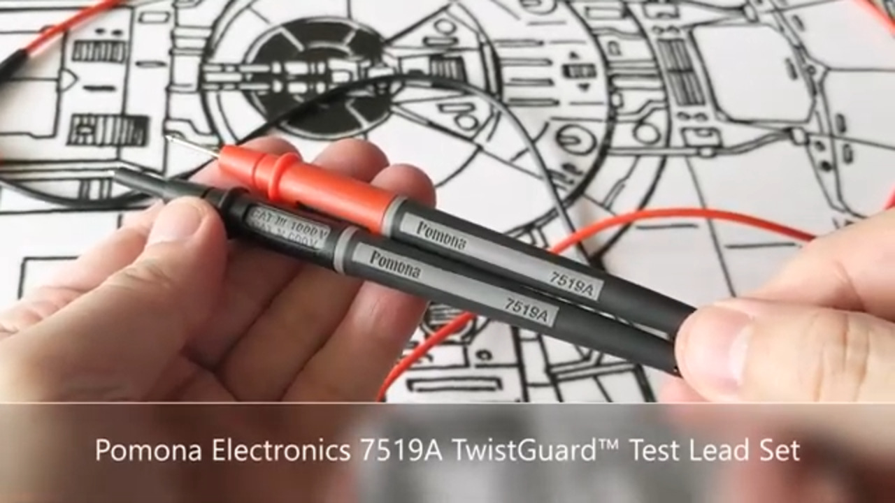 Just a Twist Away for Increased Safety ┃ Pomona Electronics 7519A TwistGuard™ Test Lead Set