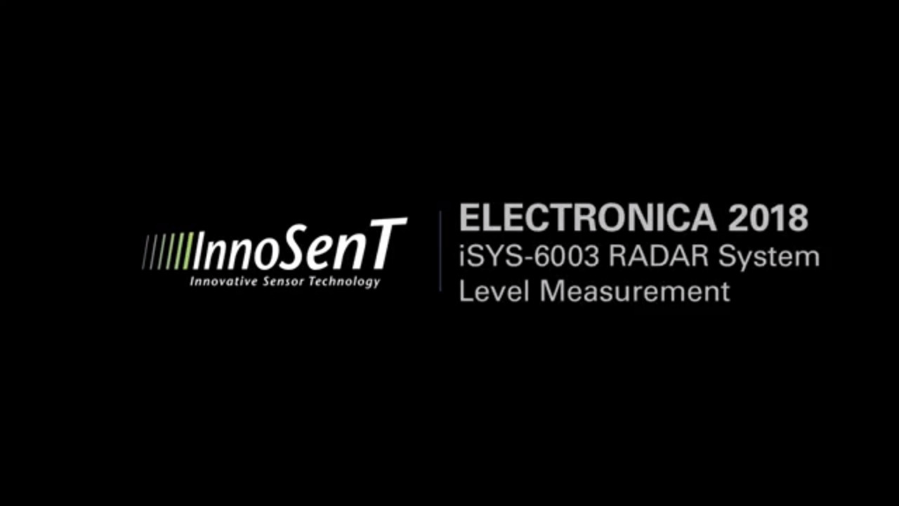 The radar system iSYS-6003 for Level Measurement