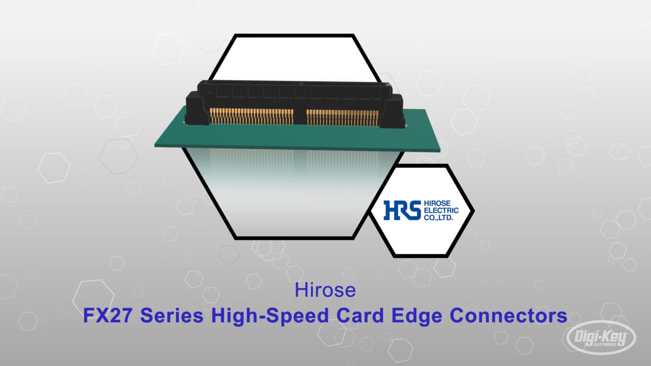 FX27 Series High-Speed Card Edge Connectors   Datasheet Preview