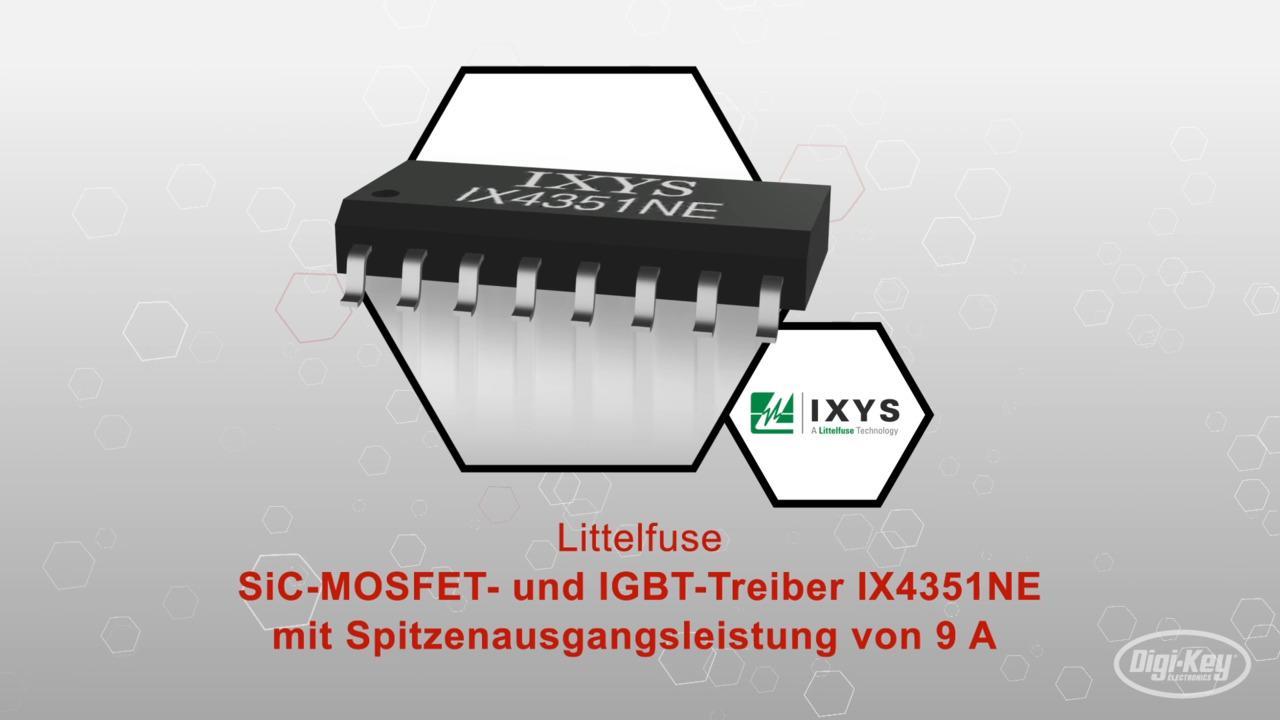 SiC-MOSFET- und IGBT-Treiber IX4351NE mit Spitzenausgangsleistung von 9 A   Datasheet Preview