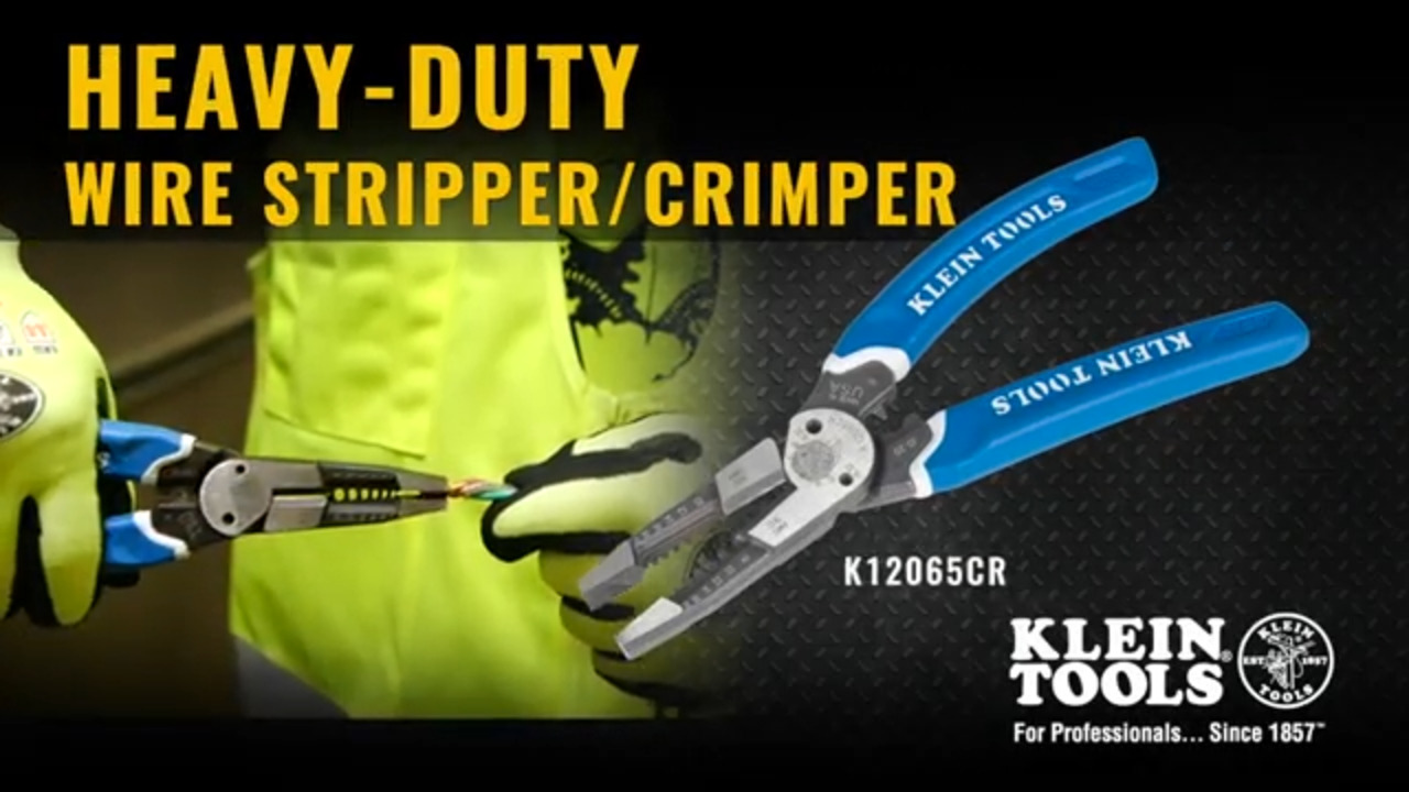 Klein Tools' Heavy-Duty Wire Stripper/Crimper