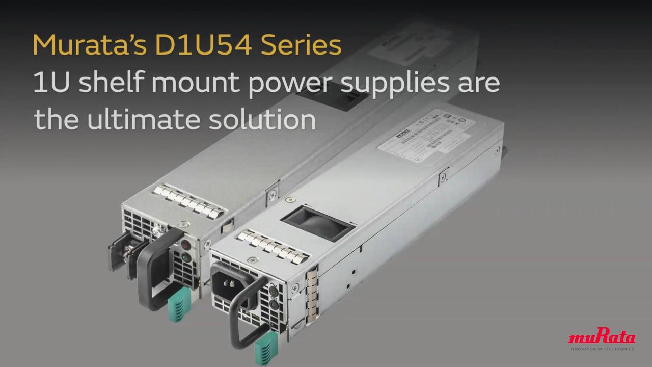 Murata's D1U54 Series Power Supply
