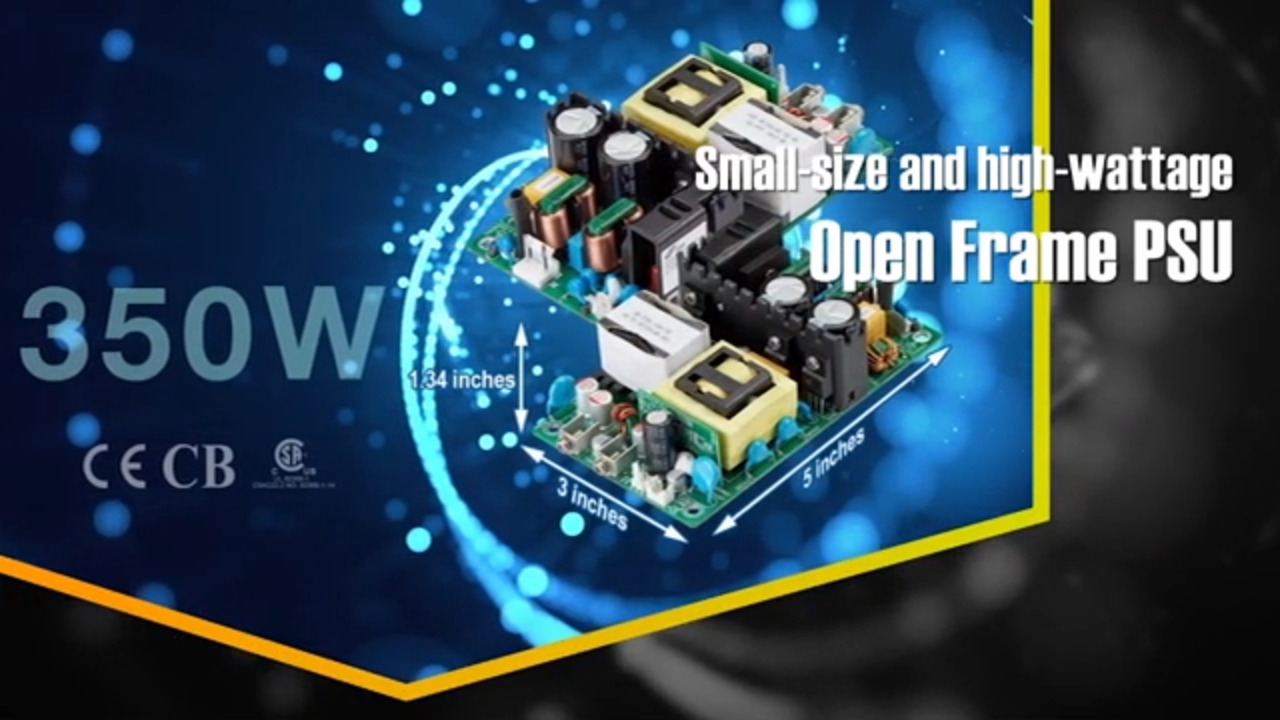 FSP 3 x 5 High Power Density 350W Open Frame PSU