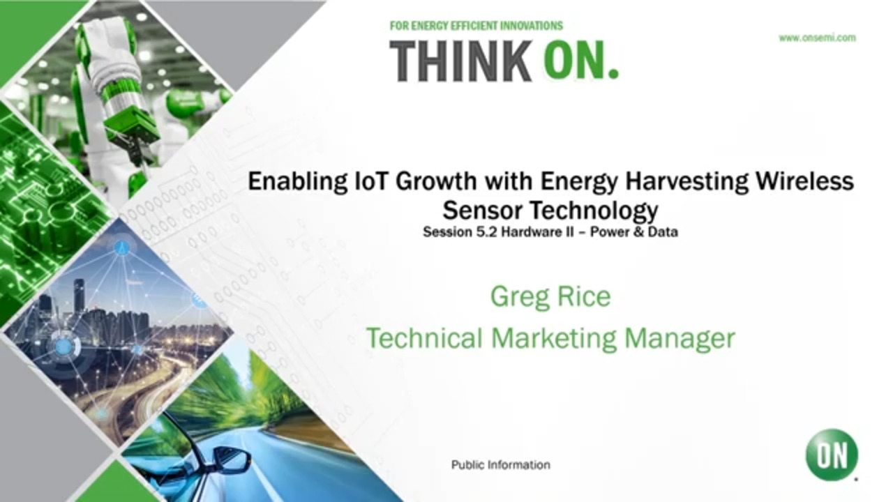 Enabling IoT Growth with Energy Harvesting Wireless Sensor Technology